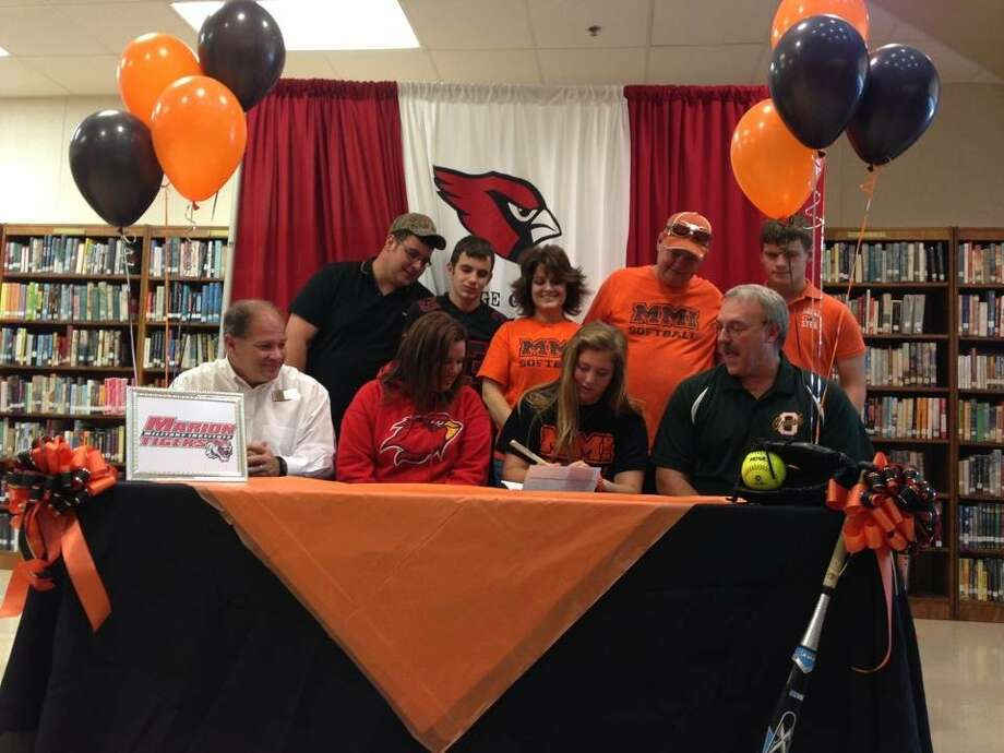 Bridge City softball player Annelise Borg signed with Marion Military Institute on Thursday. Photo: Courtesy Of Michael Johnson