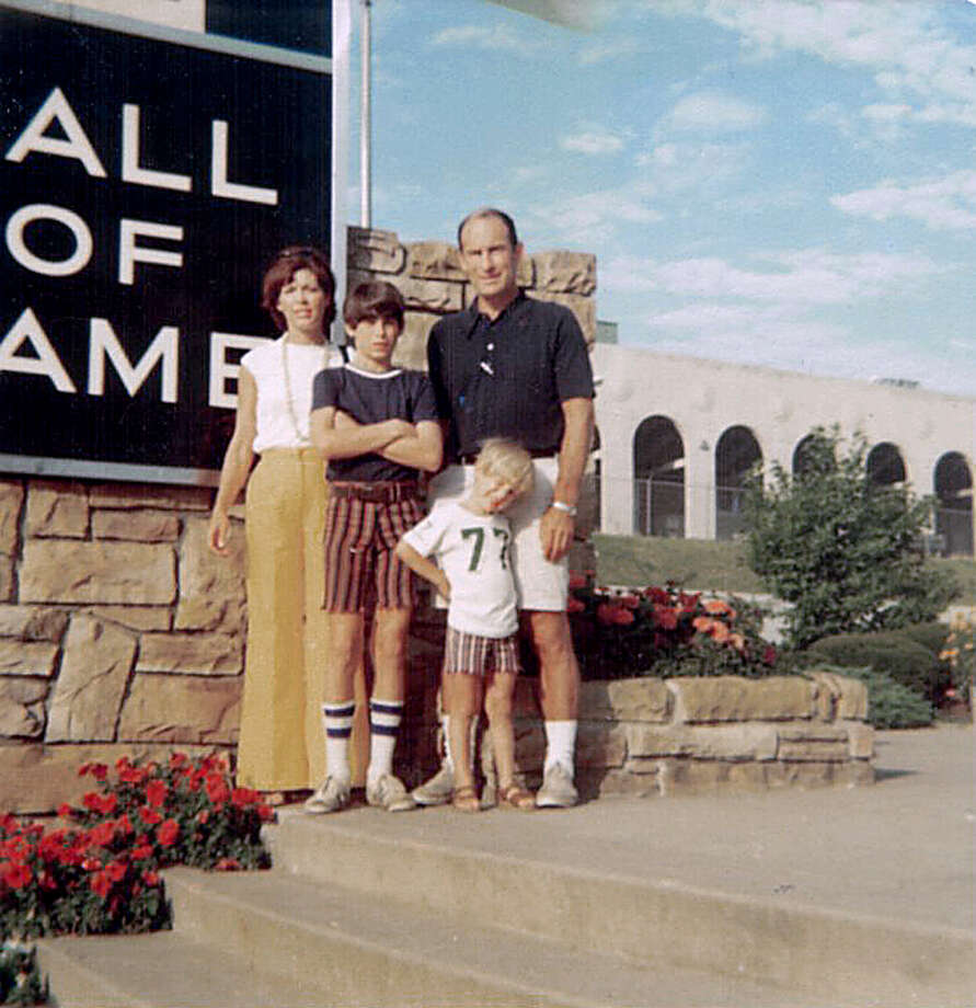 Sherry Young, Steve Young, Grit Young, Tom Young (4) at the NFL Hall of Fame in 1974. Photo: Contributed Photo, GT