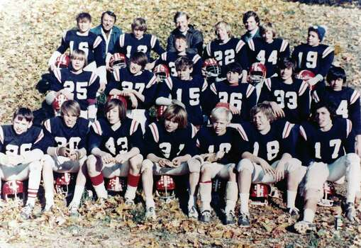 Steve Young, No. 36, at age 10 with the North Mianus Cowboys in Greenwich. Photo: Greenwich Time
