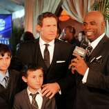 Deion Sanders, right, interviews Steve Young before the inaugural NFL Honors show Saturday, Feb. 4, 2012, in Indianapolis.