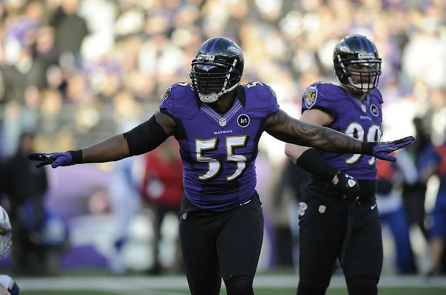 Outside linebacker Terrell Suggs has been a force in the playoffs, with numbers in three postseason games that are a close match for his eight-game totals from the regular season. Photo: Nick Wass, Associated Press