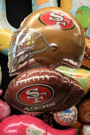 San Francisco 49ers fans are stocking up on party supplies from new TV's to Mylar balloons. Thursday, Jan. 31, 2013 in San Francisco California. Photo: Lance Iversen, The Chronicle