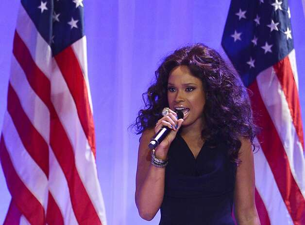 US Singer Jennifer Hudson performs as US President Barack Obama and First Lady Michelle Obama attend the Inaugural Ball at the Walter E. Washington Convention Center on January 21, 2013 in Washington, DC.   AFP PHOTO/Jewel SamadJEWEL SAMAD/AFP/Getty Images Photo: Jewel Samad, AFP/Getty Images