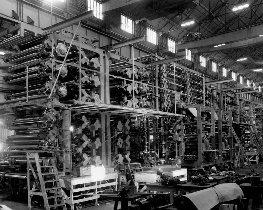 Here's another previously unpublished view of the P-I press in 1949. Photo: Seattlepi.com