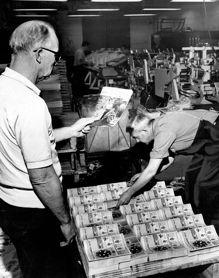 This is a picture of the tab machine at the P-I press building, which is now home to City University of Seattle. The image, taken in 1966, has only previously been published in an employee newsletter. Photo: Seattlepi.com
