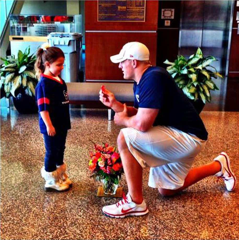 But, if you're six years old and you post a sufficiently tearful YouTube video, and enough people watch it, he might come to your house and marry you for the day.Thanks to your help, we found 6-year-old Breanna and she said yes to being my pretend wife for the day... twitter.com/JJWatt/status/…— JJ Watt (@JJWatt) January 30, 2013 Photo: Photo Courtesy Of J.J. Watt
