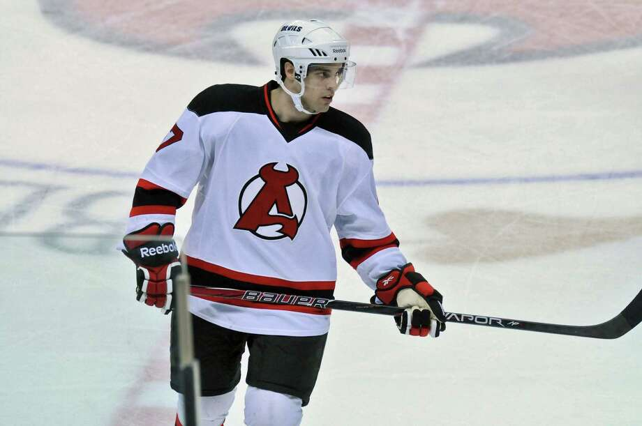 Albany Devils player Kelly Zajac, a former Union College player,  on the ice during their 2-1 loss to the Syracuse Crunch at the Times Union Center on Sunday April 15, 2012 in Albany, NY.  (Philip Kamrass / Times Union ) Photo: Philip Kamrass / 00016873A