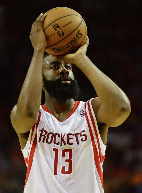 Rockets guard James Harden is the NBA's most frequent sight at the free-throw line. Photo: George Bridges / MCT