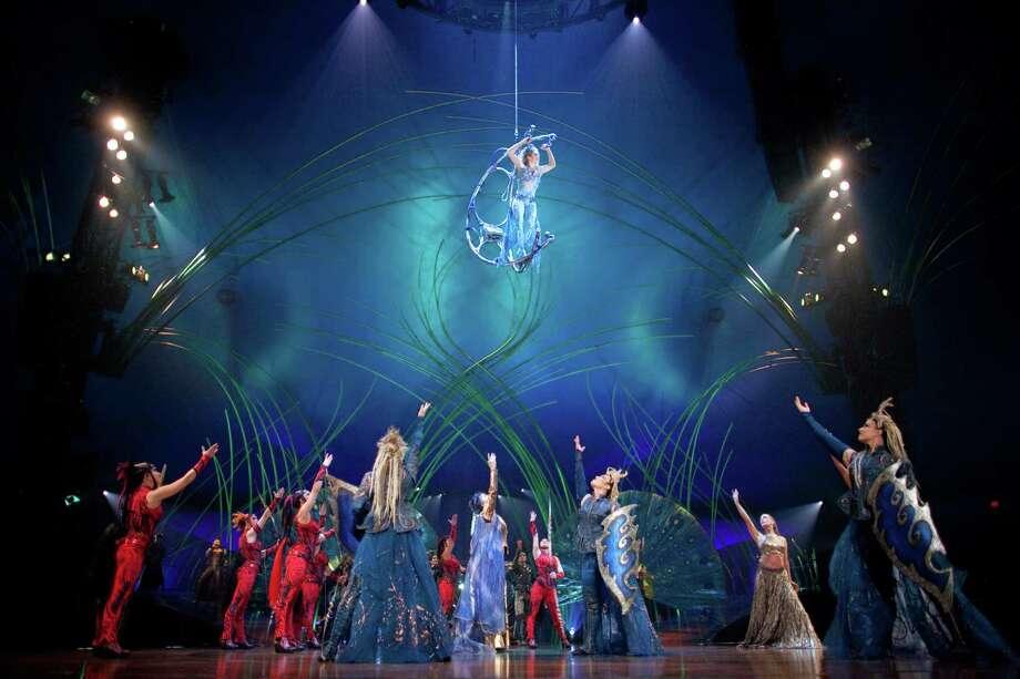Marie-Michelle Faber performs high overhead during Cirque du Soleil's Amaluna. Photo: JOSHUA TRUJILLO, SEATTLEPI.COM / SEATTLEPI.COM