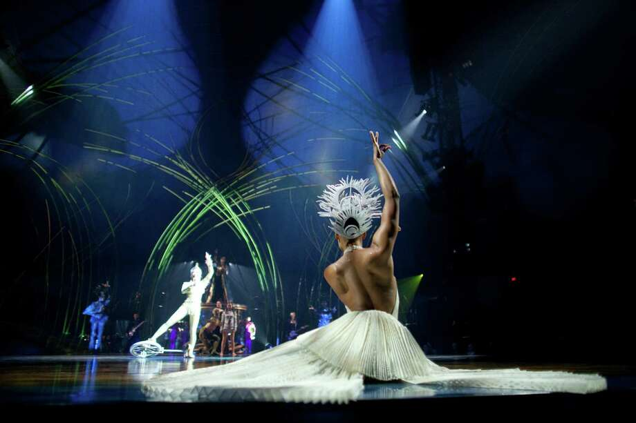 "Amy McClendon performs the ""Peacock Dance"" during Cirque du Soleil's Amaluna. Photo: JOSHUA TRUJILLO, SEATTLEPI.COM / SEATTLEPI.COM"