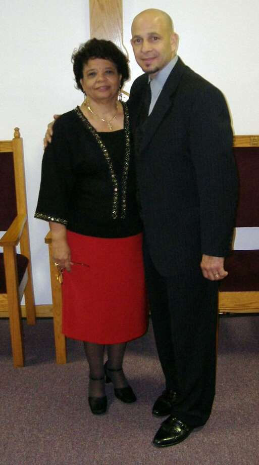 Carmen Marcano, former executive director of the faith-based rehabilitation center, Helping Hands Center with Donato Torres, a former client of the center. Torres is now pastor of the House of Compassion Church on Hallett Street in Bridgeport, Marcano founded. Photo: Contributed Photo / Connecticut Post Contributed
