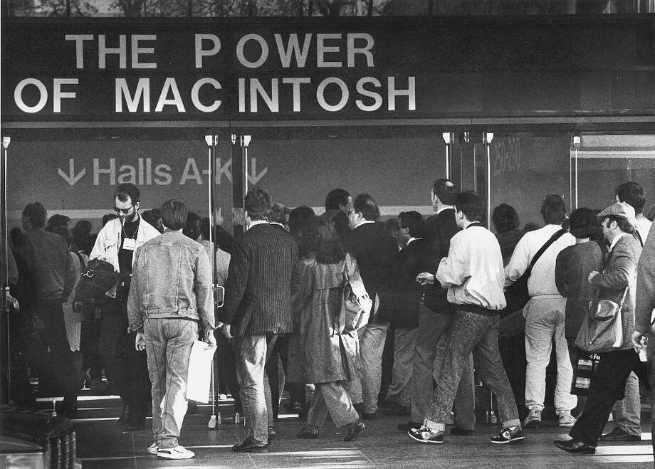 The power of 'Mac-intosh' at the Moscone Center for Macworld in January 1991. Photo: DEANNE FITZMAURICE, Chronicle Archive / ONLINE_YES