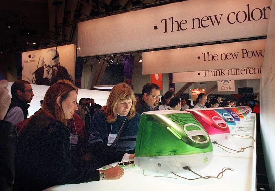 'iCandy' on display, as new 'flavors' were introduced at Macworld 1999. Photo: LIZ HAFALIA