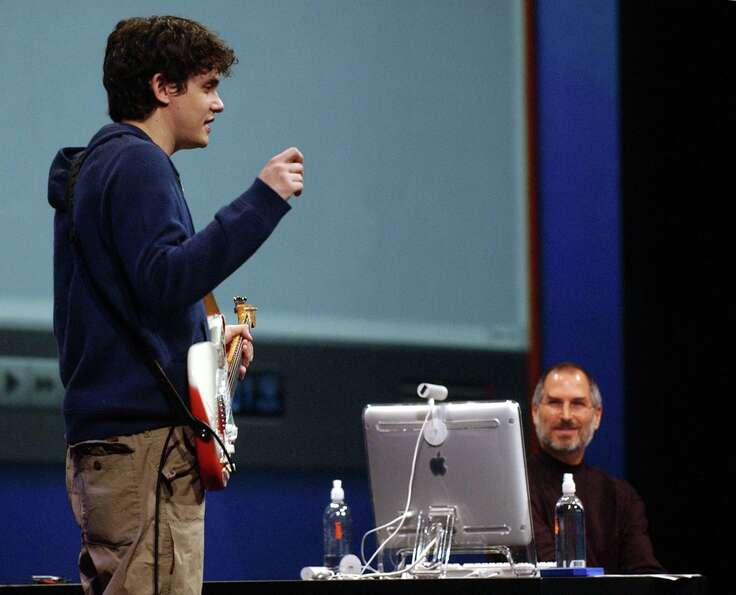A youthful John Mayer at Macworld 2004, before he found an Amish hat to wear all the time.