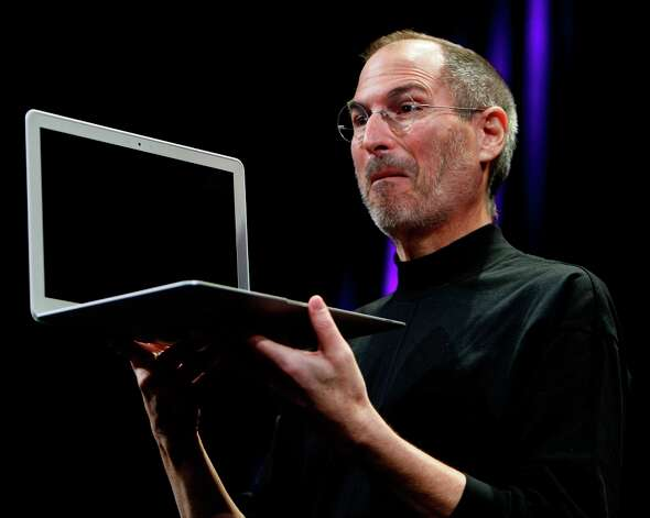 Steve Jobs gets super-excited about the MacBook Air at Macworld 2008. Photo: PAUL CHINN, SFC / The Chronicle