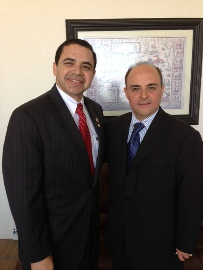 Congressman Henry Cuellar, right, with Mexican Supreme Court Justice Alfredo Gutiérrez Ortiz Mena