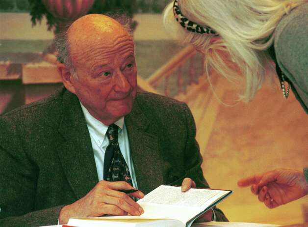 In January 2001, former New York City mayor Ed Koch was the guest  at the Just Books authors breakfast in Stamford. On Feb. 1, 2013, Koch died at the age of 88. Photo: Andrew Sullivan, ST