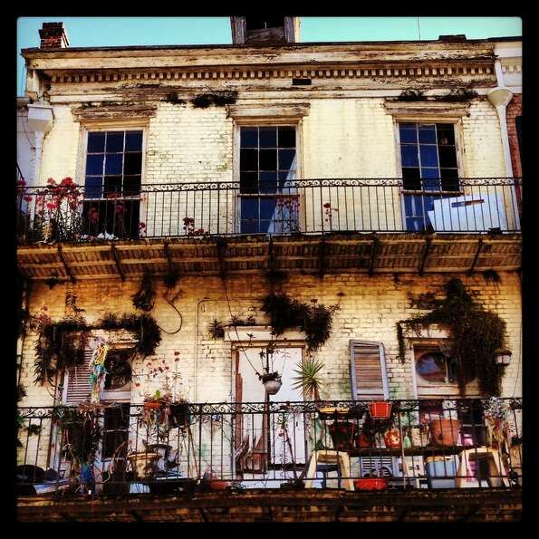 A decaying house in the French Quarter still manages to capture a style that seems unique to this ne