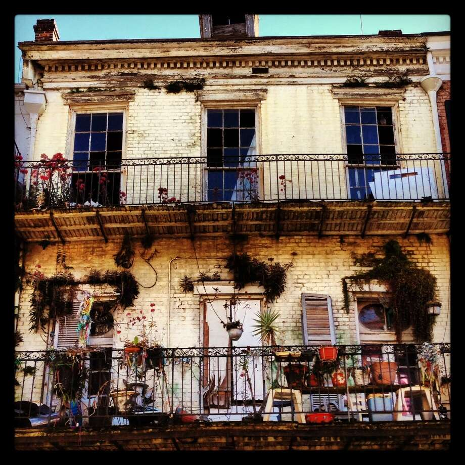 A decaying house in the French Quarter still manages to capture a style that seems unique to this neighborhood.