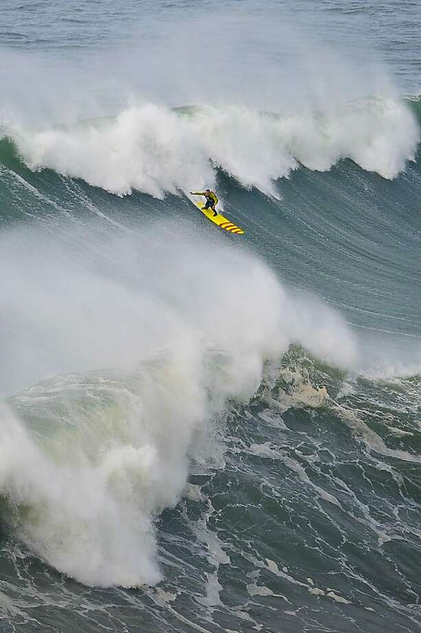 American extreme surfer Garrett McNamara may have caught a record 100-foot wave off Portugal last week. Photo: Patricia De Melo Moreira, AFP/Getty Images