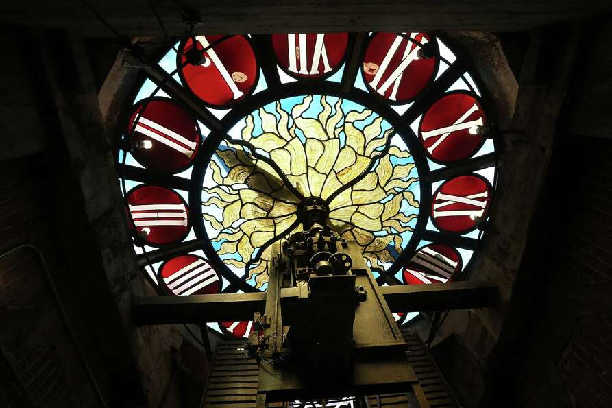 NEW YORK, NY - JANUARY 31: The antique Tiffany clock still ticks at Grand Central Terminal on the da