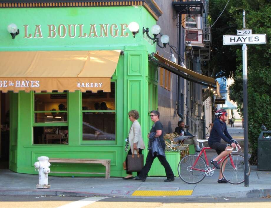 La Boulange will take 10% of your bill if you are wearing San Francisco 49ers attire. For all those croissant tailgating parties.