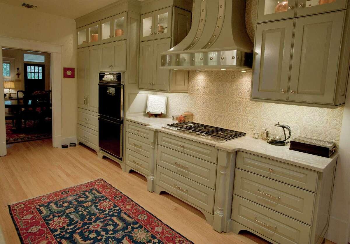 Detail of Helen Schnelzer's recently-remodeled kitchen, photographed Monday, Jan. 28, 2013, at the Schnelzer home in San Antonio.