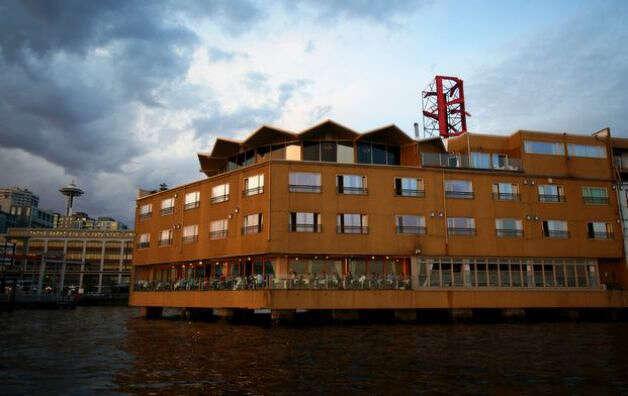 The Edgewater Hotel as seen in 2009 from Elliott Bay. (Joshua Trujillo/seattlepi.com)