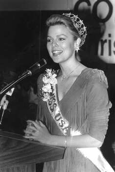 Christy Fichtner, who dated Steve Young as a teenager, returned to Greenwich during her tenure as Miss USA in 1986. Photo: The (Stamford) Advocate