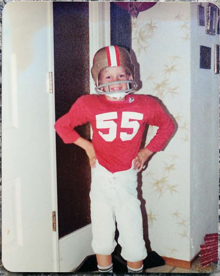 Lifetime 49ers fan Jeff Knepp wears team colors at age 8. He is among a handful of fans who have attended five 49ers Super Bowls and will be there for the sixth. Photo: Michael Short, Special To The Chronicle