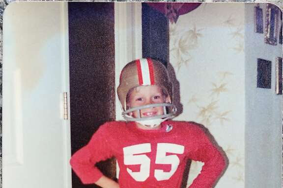 Jeff Knepp is a lifetime 49ers fan, growing up in the Bay Area and rooting for the team with his father and two brothers -- who will all be at Super XLVII today. Knepp's favorite player is Paul Hofer and he's worn a #36 Hofer jersey to six Super Bowls. This childhood photo taken was taken in 1974 when he was 8.