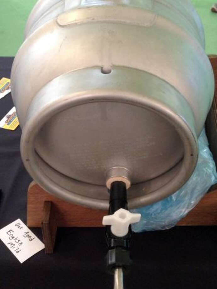 He also had a cask of an English mild out for sampling.