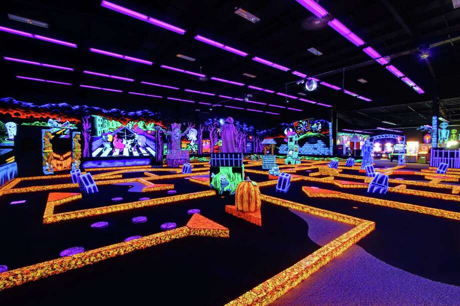 Everything glows at Monster Mini Golf on Starr Road in Danbury. Photo: Contributed Photo / The News-Times