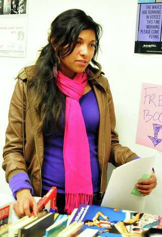 Jennifer Hernandez, 18, a senior at Danbury High School, talks about her reaction to a lockdown drill  Friday, Feb. 1, 2013. Photo: Michael Duffy / The News-Times