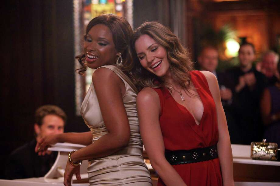 "SMASH -- ""On Broadway"" Episode 201 -- Pictured: (l-r) Jennifer Hudson as Veronica Moore, Katharine McPhee as Karen Cartwright -- (Photo by: Eric Liebowitz/NBC) Photo: NBC / 2012 NBCUniversal Media, LLC"