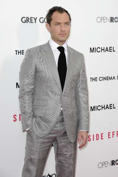 Jude Law attends the premiere of Side Effects hosted by Open Road with The Cinema Society and Michae