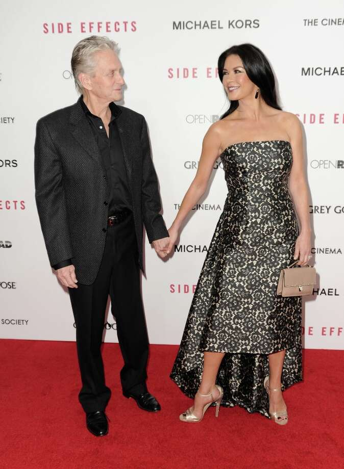 Michael Douglas and Catherine Zeta-Jones attend the premiere of Side Effects hosted by Open Road with The Cinema Society and Michael Kors at AMC Lincoln Square Theater on January 31, 2013 in New York City. Photo: Dave Kotinsky, Getty Images / 2013 Getty Images
