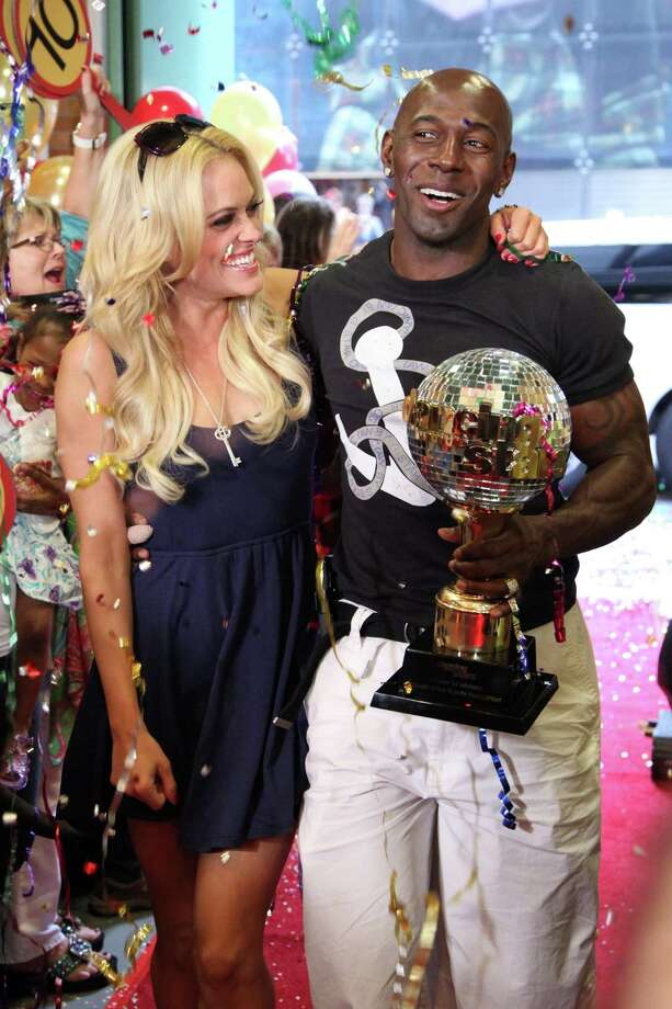 "Houston native Donald Driver (with Peta Murgatroyd) is one of several NFL players to compete on ""Dancing With the Stars."" Photo: Taylor Hill, Stringer / 2012 Getty Images"