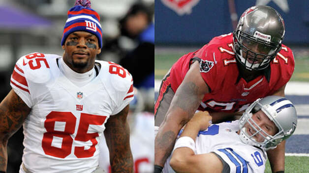 NFL players Martellus (left) and Michael Bennett grew up in Houston and went to Alief Taylor High School. Martellus plays for the New York Giants, and Michael plays for the Tampa Bay Buccaneers.