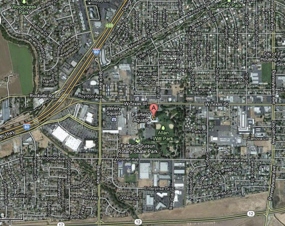 Allan Witt Park, West Texas Street, Fairfield, CA Photo: Google Maps