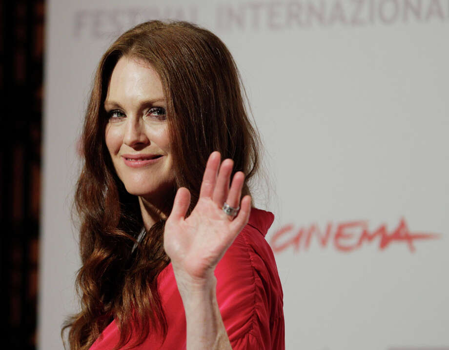 Julianne Moore will portray Sarah Palin in a HBO movie called Game Change, which debuts March 10. Photo: Alessandra Tarantino, AP / AP