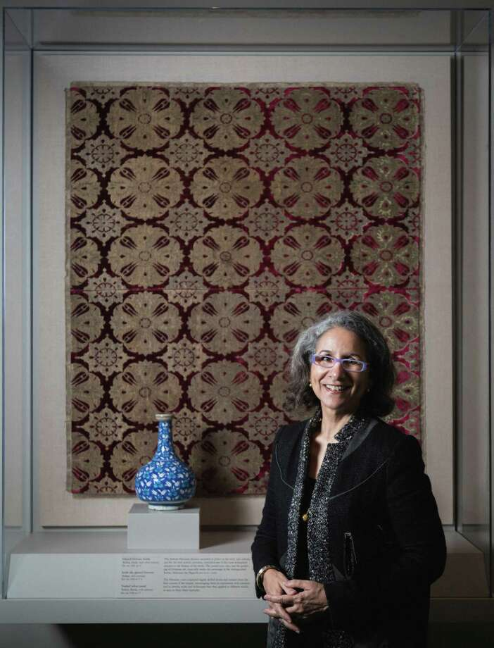"Items on display in ""Arts of Islamic Lands: Selections From the al-Sabah Collection, Kuwait"" at the MFAH belong to Her Excellency Sheikha Hussah Sabah al-Salem al-Sabah's family. Photo: Michael Paulsen, Staff / © 2013 Houston Chronicle"