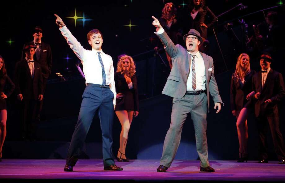 "Stephen Anthony as ""Frank W. Abagnale, Jr."" and Merritt David Janes as ""Carl Hanratty"" Based on the  DreamWorks film and the  true story that inspired it, CATCH ME IF YOU CAN is the new Broadway musical that tells the story of Frank W. Abagnale, Jr. Book by Terrence McNally; score by Marc Shaiman & Scott Wittman; choreography by Jerry Mitchell; direction by Jack O'Brien"
