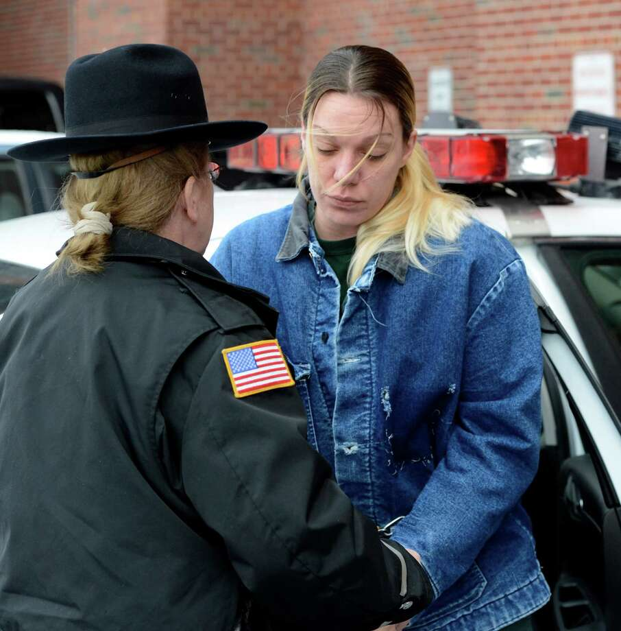 Schuylerville resident Joey Paul arrives for her arraignment Feb. 1, 2013, at the Saratoga County Courthouse in Ballston Spa, N.Y. Paul is charged with 2nd degree murder in connection with the July shooting of her live-in boyfriend.  (Skip Dickstein/Times Union) Photo: SKIP DICKSTEIN / 00021000A