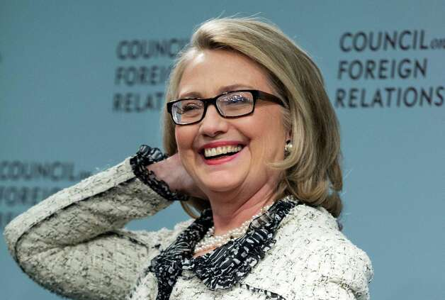 Secretary of State Hillary Rodham Clinton smiles before speaking on American leadership at the Council on Foreign Relations in Washington, Thursday, Jan. 31, 2013. Photo: Manuel Balce Ceneta