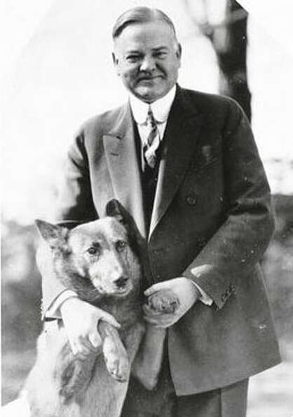 Herbert Hoover's German Shepherd allowed the public to see the human side of a very reserved man.