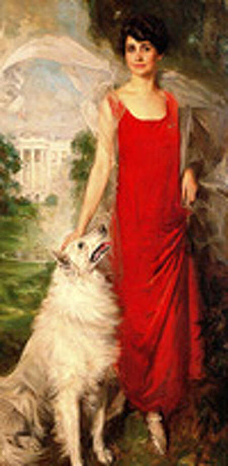 Grace Coolidge was elegant with her elegant dog, Rob Roy