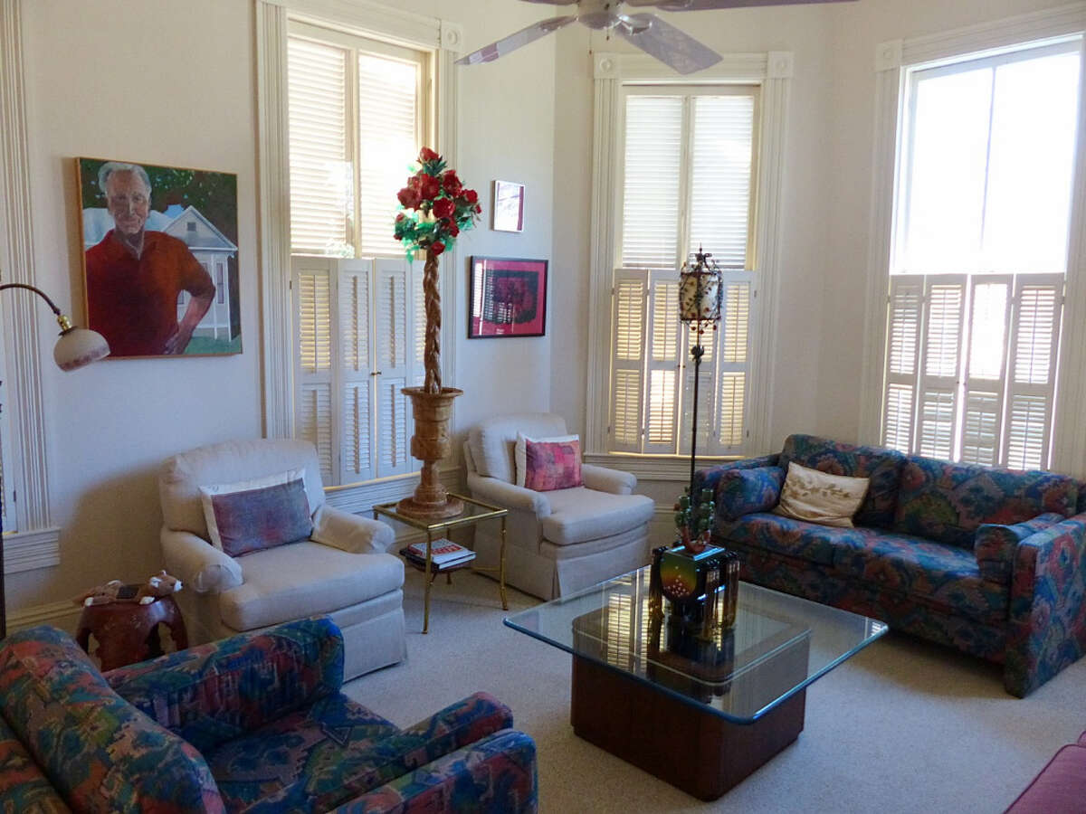 The front parlor on the Pancoast home south of downtown San Antonio on Wednesday, Jan. 30, 2013.