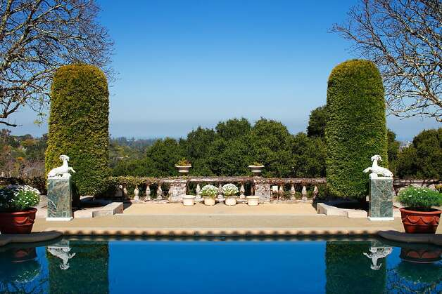 This 47.4-acre estate in Hillsborough, just listed for $100 million, has been in the de Guigne family for 150 years. The current resident, Christian de Guigne IV, is retaining a lifetime interest in the property even after it s sold. The 16,000 square foot Mediterranean-style house by designed by the same architects who designed the St. Francis Hotel. Photo: Gregg Lynn