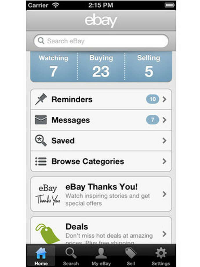eBay Browse, bid, sell, and win while away from your computer. Notification and bid alerts tell you when you've been outbid, so you don't have to lose an auction when you're on the move. Device: Apple, Android, and Windows  Reprinted with Permission of Hearst Communications, Inc. Originally Published: 10 Free Apps That Will Change How You Decorate Photo: Courtesy Of Manufacturer